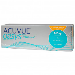 Acuvue Oasys 1-day with HydraLuxe for Astigmatism, 30 линз