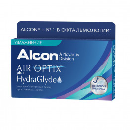 Air Optix Plus HydraGlyde, 3 шт